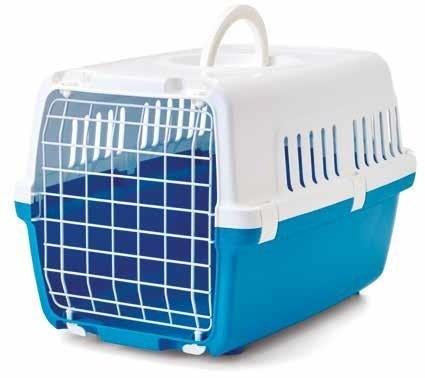 Transportery, sprzęt podróżny - Savic transporter dla kota niebieski 48 x 32 x 28cm