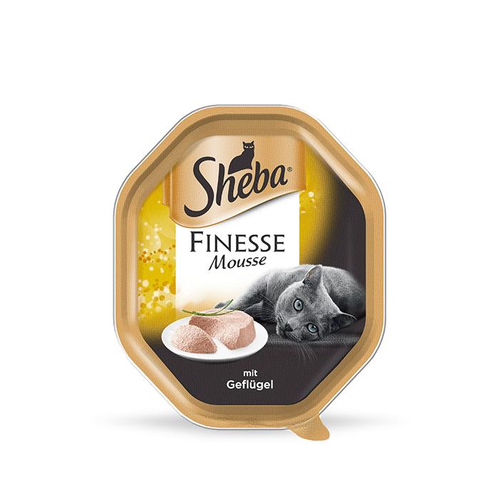 Karmy mokre dla kota - Sheba Finesse Mausse 85g x 12