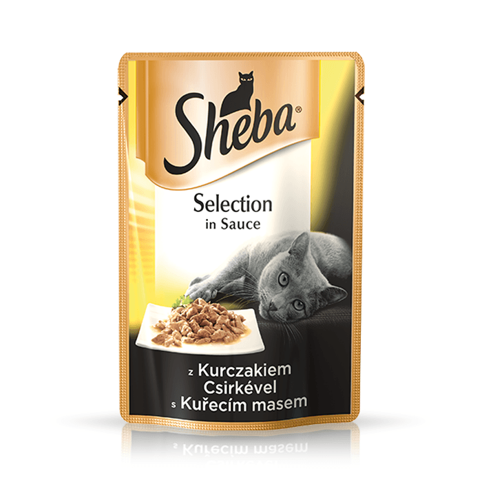 Karmy mokre dla kota - Sheba Selection w sosie 85g x 12