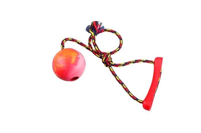 Zabawki - Sum Plast Piłka aportowa ze sznurkiem z gumy