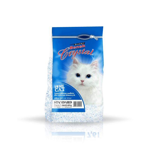 żwirek dla kota - Żwirek Super Benek Crystal Standard 3,8l