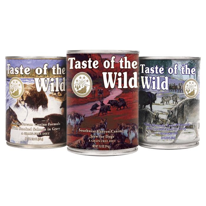 Karmy mokre dla psa - Taste of the wild mix 3 smaków 390g x 36