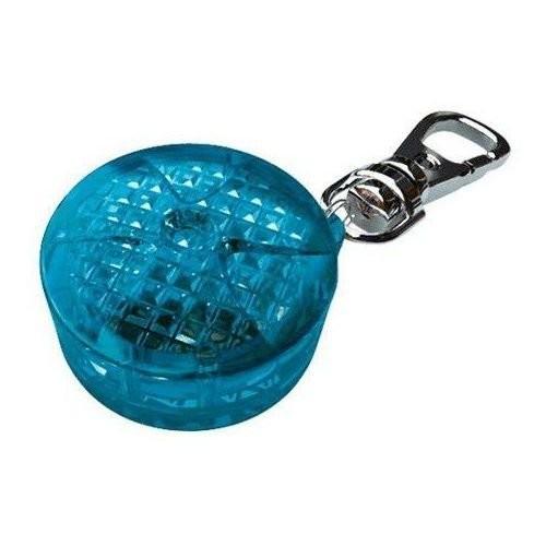 Smycze, obroże, szelki - Trixie Zawieszka świecąca odblaskowa niebieska 3,5 cm