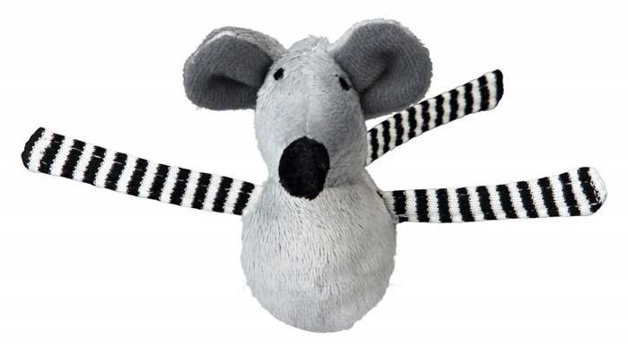 Zabawki - Trixie Myszka drżąca 8cm