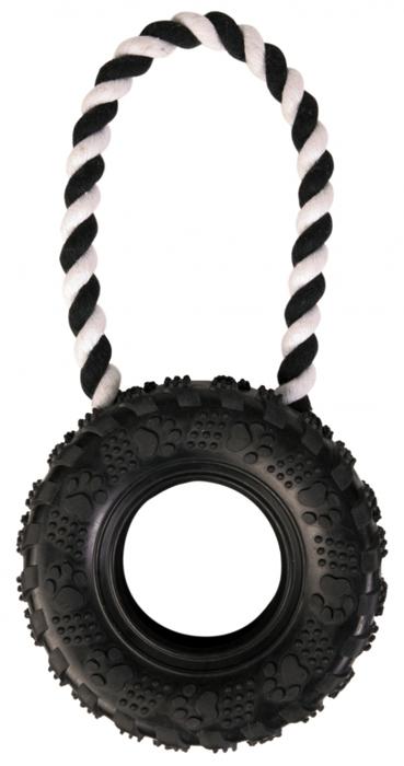 Zabawki - Trixie Opona na sznurku 15cm x 32cm