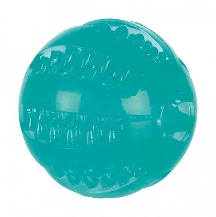 Zabawki - Trixie Piłka Denta Fun kolorowa 6cm