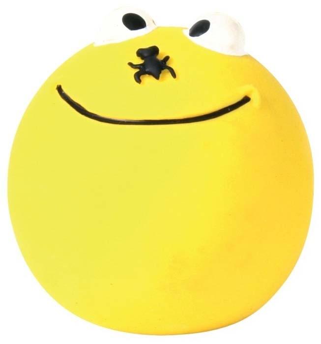 Zabawki - Trixie Piłka lateksowa żółta - uśmiech 6cm