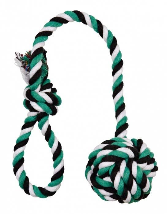 Zabawki - Trixie Piłka do gry ze sznura 50cm