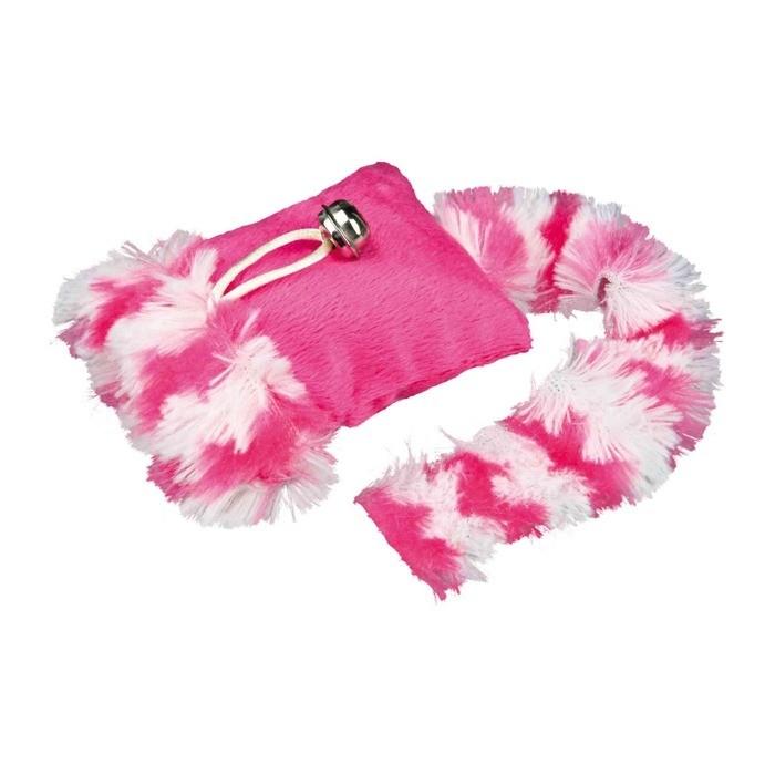 Zabawki - Trixie Poduszka z pluszowym ogonem i kocimiętką 20cm