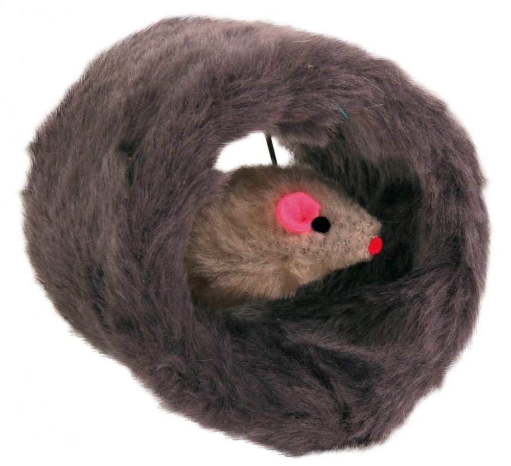 Zabawki - Trixie Walec pluszowy z myszką 8cm