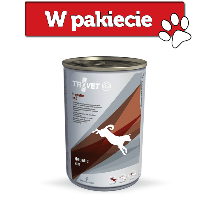 Karmy mokre dla psa - Trovet HLD Hepatic 400g