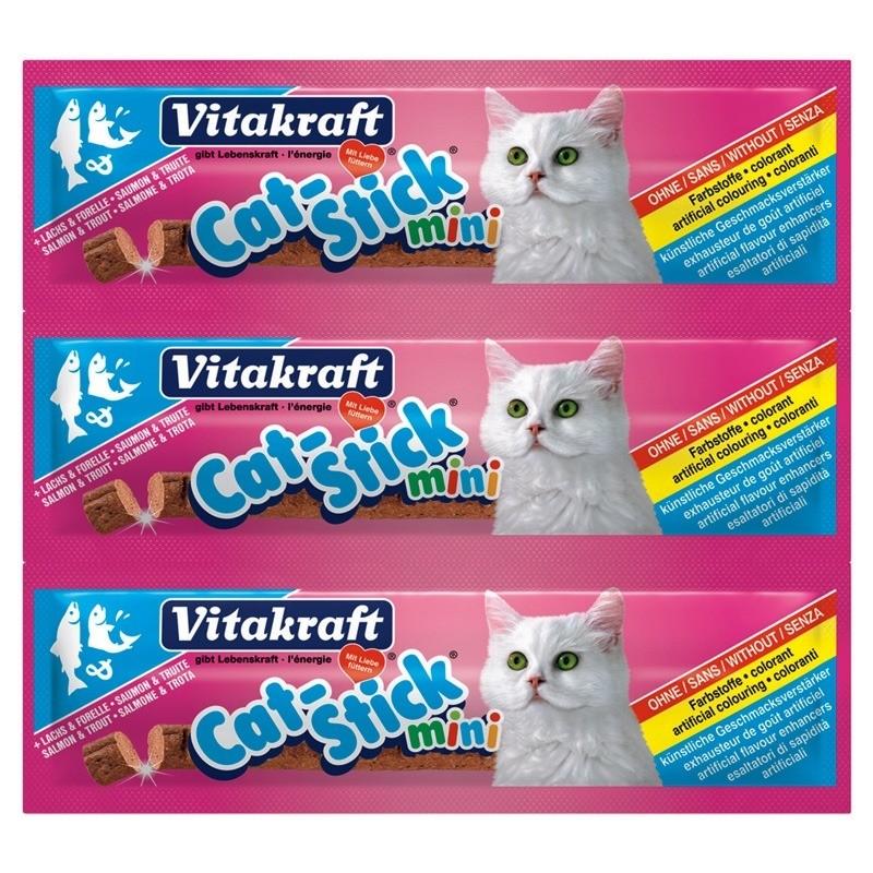 Przysmaki dla kota - Vitakraft Cat Stick Mini Łosoś i Pstrąg 6g 3szt.