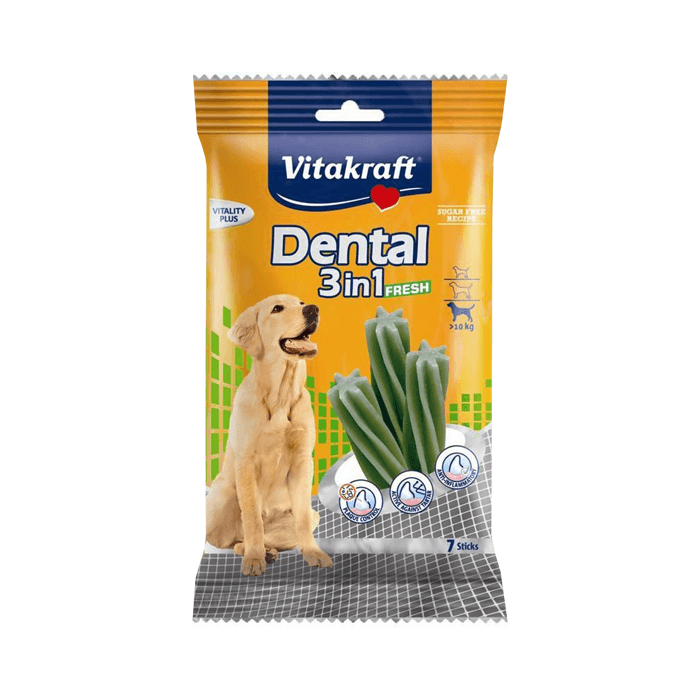 Przysmaki dla psa - Vitakraft Pies Dental 3in1 Fresh M Medium 7szt. 180g