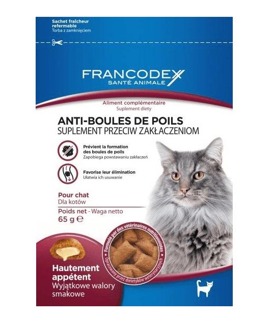 Przysmaki dla kota - Francodex przysmak dla kota na odkłaczanie 65g