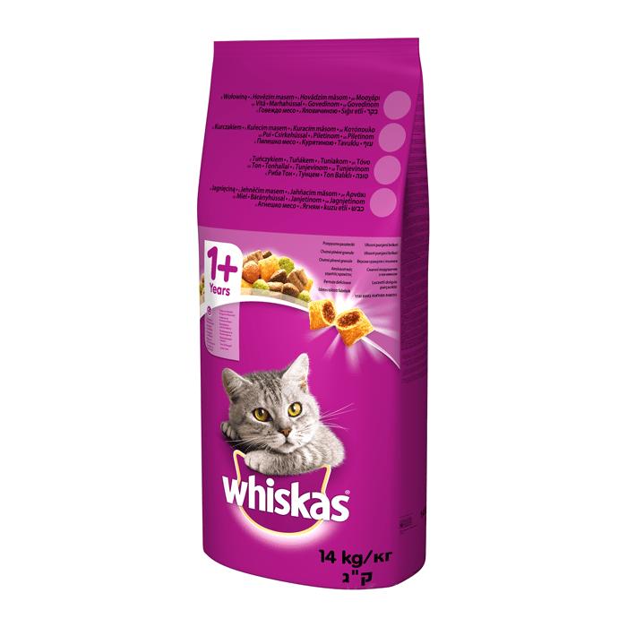 Karmy suche dla kota - Whiskas Adult z kurczakiem i warzywami