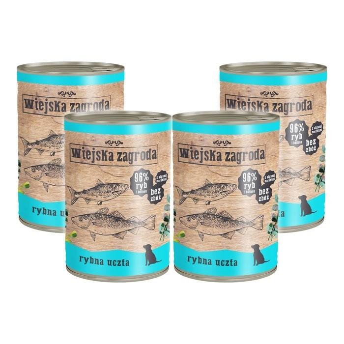 Karmy mokre dla psa - Wiejska Zagroda 400g x 4