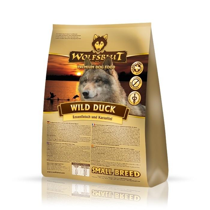 Karmy suche dla psa - Wolfsblut Dog Adult Small Wild Duck