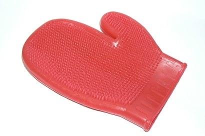 Higiena, pielęgnacja sierści - Lessie Land Lateksowa rękawica do masażu
