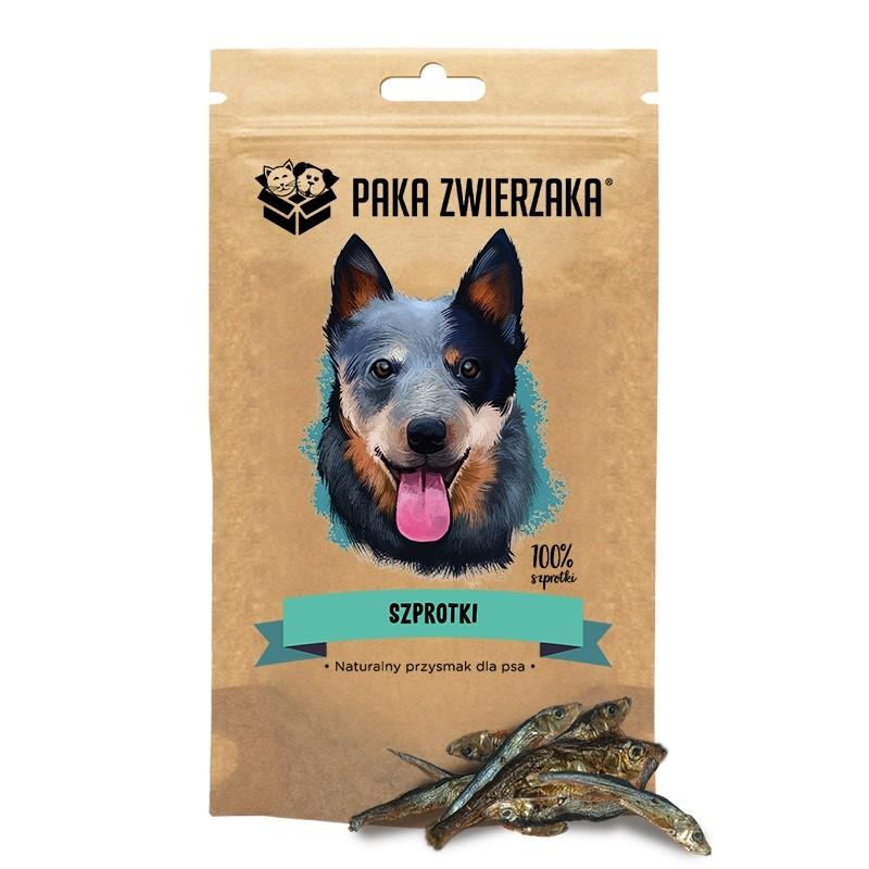 Przysmaki dla psa - Paka Zwierzaka Szprotki 100% 60g