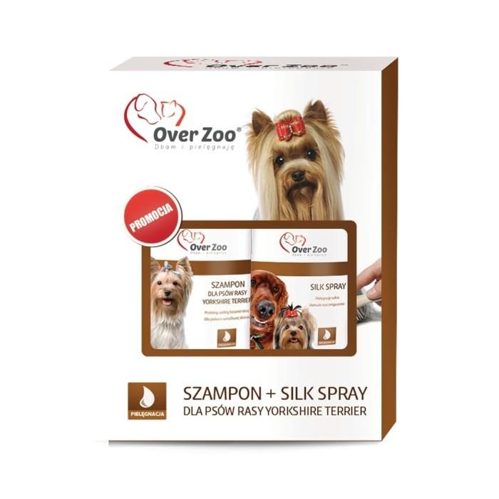 Higiena, pielęgnacja sierści - Over Zoo Dwupak Szampon i Silk Spray dla rasy york