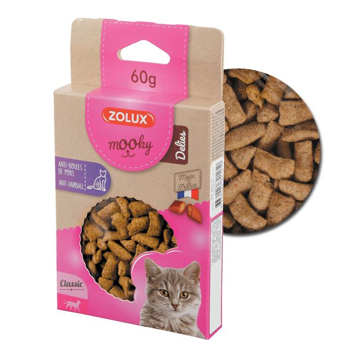 Przysmaki dla kota - Zolux Mooky Cat Delies przeciw kulom włosowym 60g