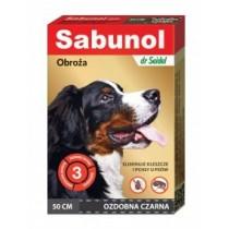 Sabunol Obroża czarna przeciw pchłom i kleszczom dla psa 50cm