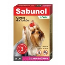 Sabunol Obroża różowa przeciw pchłom i kleszczom dla psa