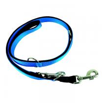 Chaba Smycz taśma Strong regulowana niebiesko czarna