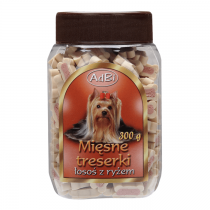 AdBi Mięsne Treserki z łososiem i ryżem 300g