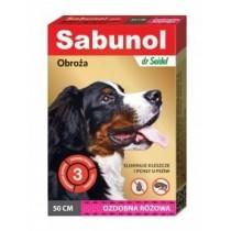 Sabunol Obroża różowa przeciw pchłom i kleszczom dla psa 50cm
