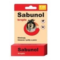 Sabunol Krople na pchły i kleszcze dla dużych psów 4ml