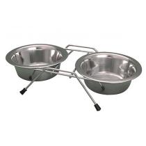 Yarro miski metalowe na stojaku 11cm