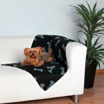 Trixie Kocyk czarny w kostki 70×100cm