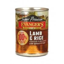 Evanger's Super Premium Gold Line jagnięcina z ryżem 369g