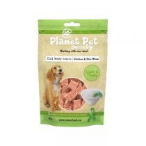 Planet Pet Society chicken rice bites 80g