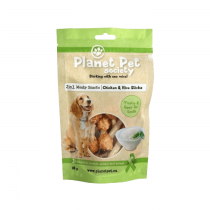 Planet Pet Society chicken rice sticks 80g