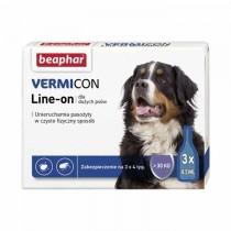 Beaphar Vermicon Line On krople na pchły i kleszcze dla dużego psa 3 x 4,5ml