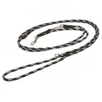Chaba Smycz Linka regulowana czarno biała