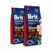 Brit Premium By Nature Adult Large L 2x15kg