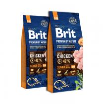Brit Premium By Nature Senior Small/Medium S+M 2x15kg