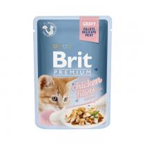 Brit Premium Cat Pouch Kitten Fileciki w sosie 85g x 12