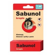 Sabunol Krople na pchły i kleszcze dla wielkich psów 6ml