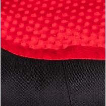 Bimbay Pokrowiec do kanapy Minky czarny-czerwony