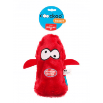 Coockoo Boozy piszcząca zabawka z butelką czerwona 25 x 10 x 8cm