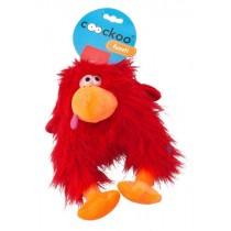 Coockoo Fuzzl pluszowa piszcząca zabawka czerwona 25 x 14cm