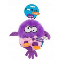 Coockoo Huggl piszcząca zabawka aport fioletowa 24 x 18cm