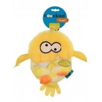Coockoo Huggl piszcząca zabawka aport żółta 24 x 18cm
