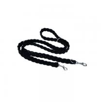 Champion Smycz Linka pleciona czarna 120cm