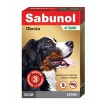 Sabunol Obroża szara przeciw pchłom i kleszczom dla psa 75cm