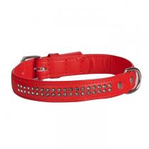 Dingo Obroża Glamour czerwona